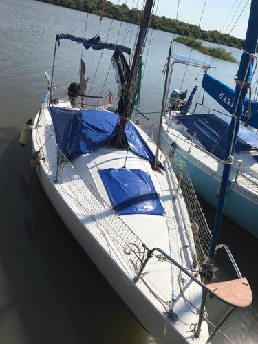 velero velamar 26 de orza, con trailer