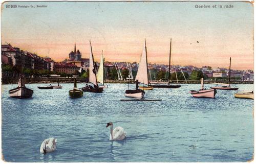 veleros postales antiguas de suiza 1907 y 1936