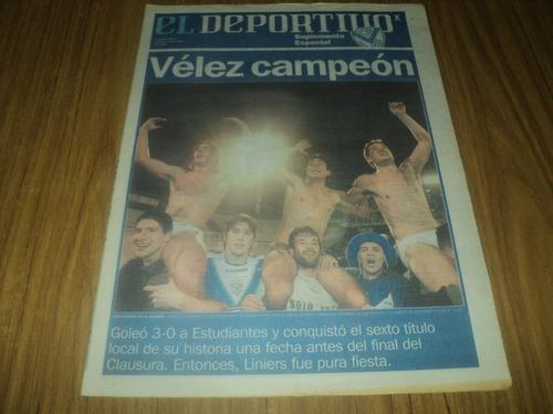 velez campeon !! clausura 05 / deportivo clarin especial