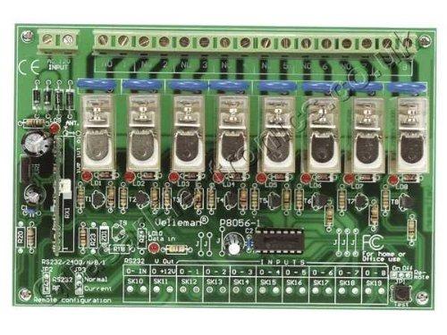 Velleman VM118 8-Channel RF Remote Control Set 50m//165ft Open Field Range 5.9 L x 2.3 W x 0.9 H