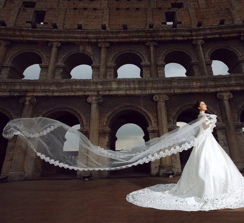 velo catedral de novia velos novias velo blanco/marfil 5 mt