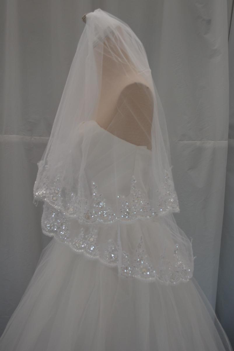 4ecc5eddbe velo de novia corto 2 capas peineta orilla ancha economico. Cargando zoom.