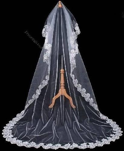 velo de novia o mantilla hermosa 4.8 metros