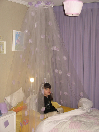 velo dosel para cama o cuna niñas bebes princesa. usado