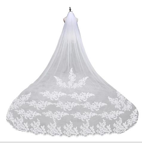 velo novia 2.85 mt+peine color blanco o ivory