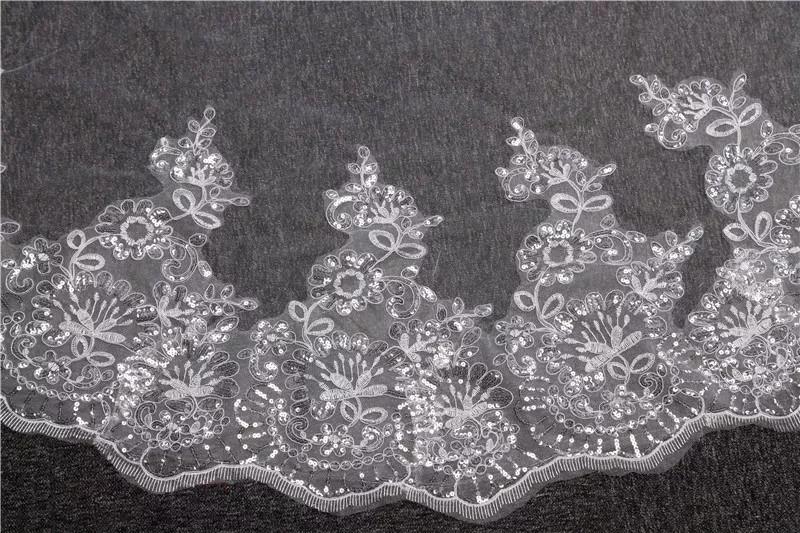 137b94806c velo novia catedral 4 m encaje bordado ivory lentejuela. Cargando zoom.
