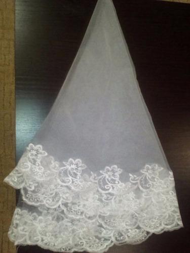 velo novia estilo mantilla  corta color blanco df