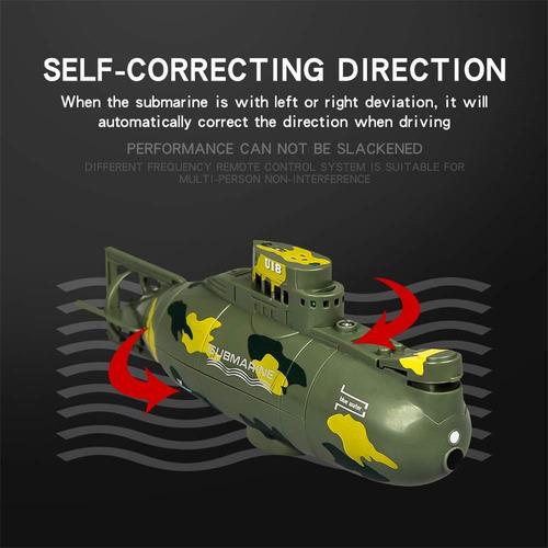 velocidad radio control remoto eléctrico mini rc submarino