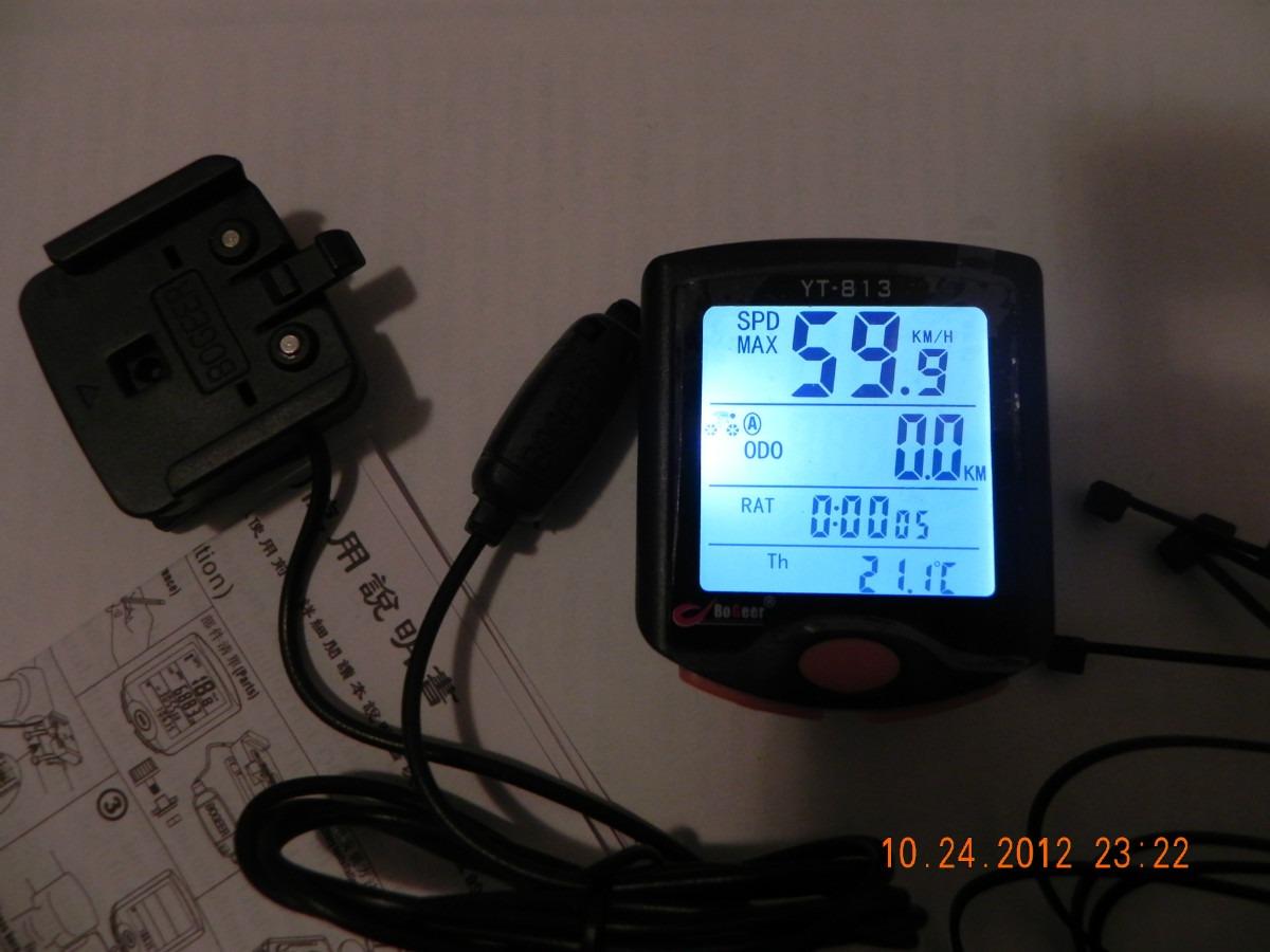 985ebe2d8 Velocímetro Bicicleta Com 25 Funções Serve No Aro 29 Tem Luz - R$ 77 ...