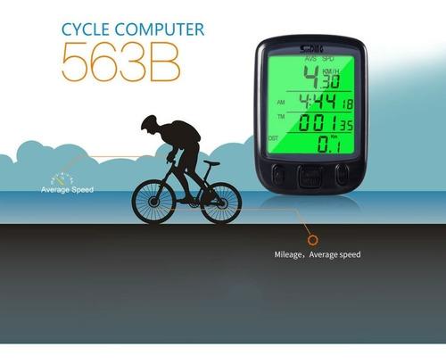 velocímetro bicicleta luz sunding sd563b lcd 25 funciones