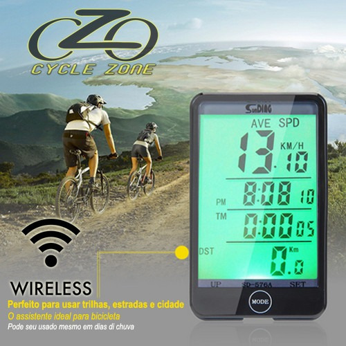 velocimetro bike bicicleta s/fio ciclocomputador wireless