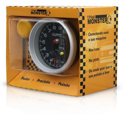 velocimetro contagiro rpm universal led 7 cores monster