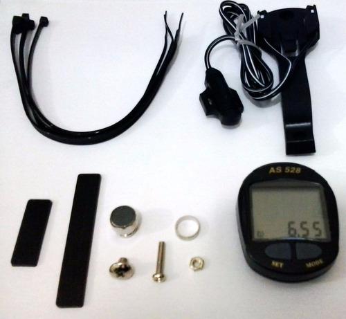 velocímetro digital as528 pto. 8 funções assize p/ bicicleta