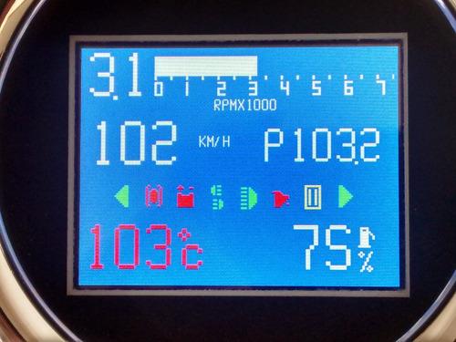 velocimetro digital c/ rpm,temperatura,combustivel e sinais