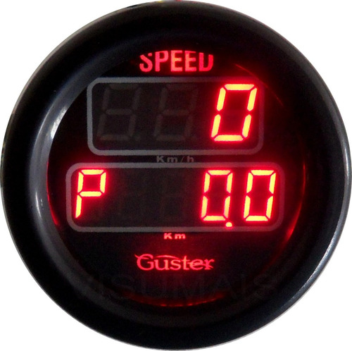 velocimetro digital com odometro parcial 52mm guster