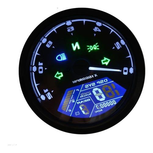 velocimetro digital moto tacómetro gasolina 12en1 universal