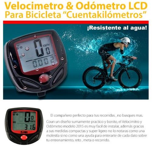 velocimetro digital para bicicleta odometro ciclocomputador