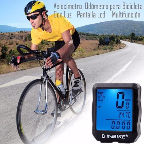 velocímetro odómetro computador para bicicleta lcd luz
