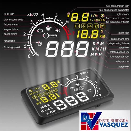 velocimetro tacometro holografico obd 2 para tu carro tuning