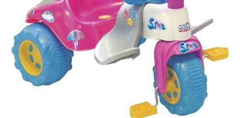 velocípede infantil com empurrador barato menina bichos 2730