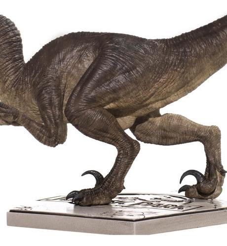 velociraptor attacking - 1/10 - jurassic park - iron studios