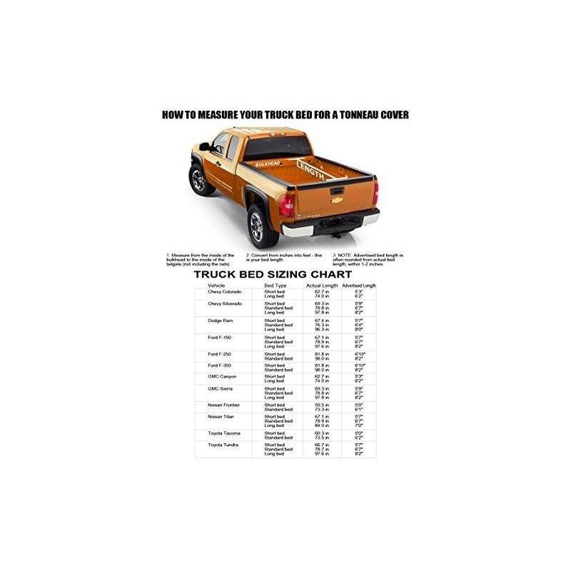 Velocity Racing Tri-fold Vinilo Tonneau Cubierta Lw 16x Led ...