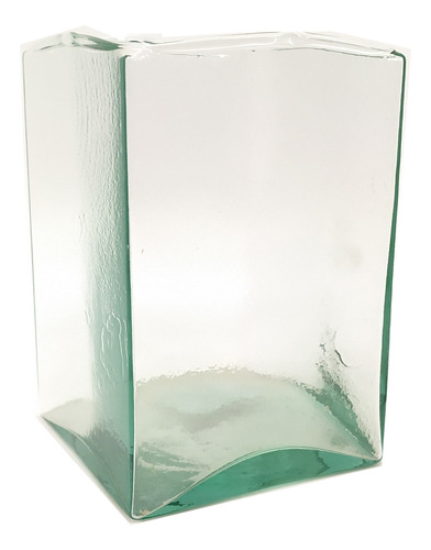 velón cuadrado  mediano  en vidrio decoración hogar