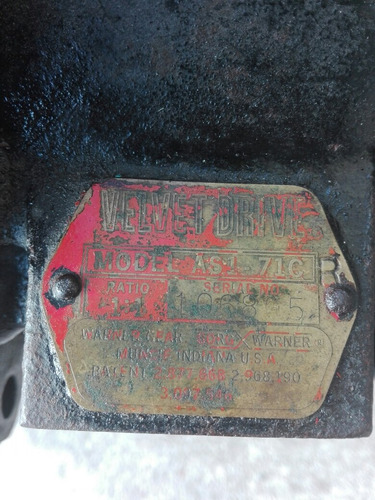 velvet drive 71c relacion 1:1 caja marina