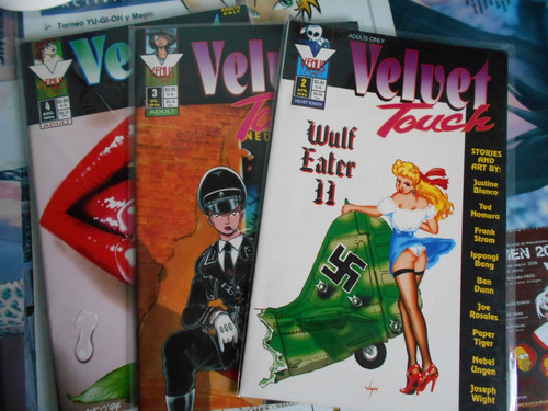 velvet touch, 1994 ejemplares 2, 3 y 4 comic editorial venus