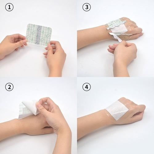 venda adhesiva médica que arruga el cojín impermeable pu,...