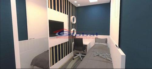 venda apartamento sem condomínio - jd. do estádio - santo andré - gl38441