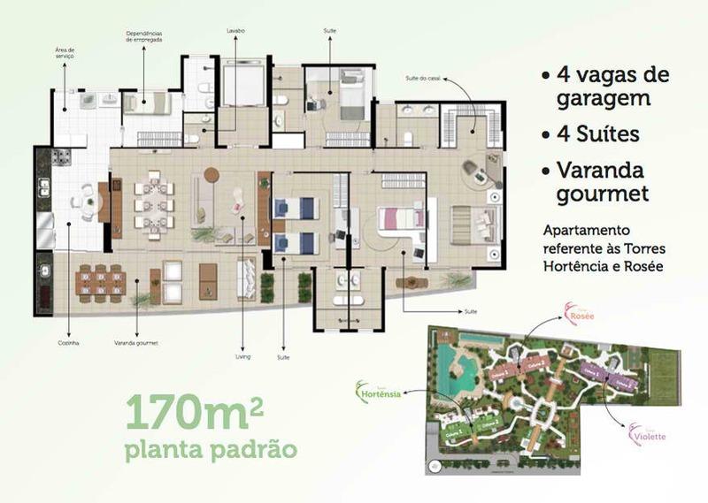 venda apartamento  sports garden cobertura