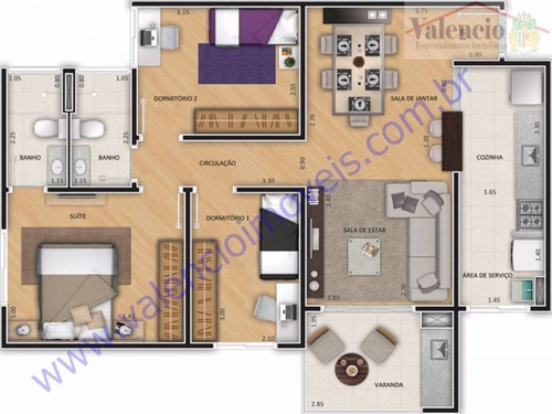 venda - apartamento - vila brasil - santa bárbara d'oeste - sp - 2339gg