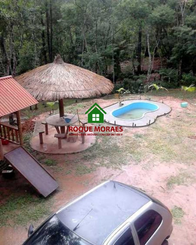 venda chácara em juquitiba com chalé e piscina. ref 0025