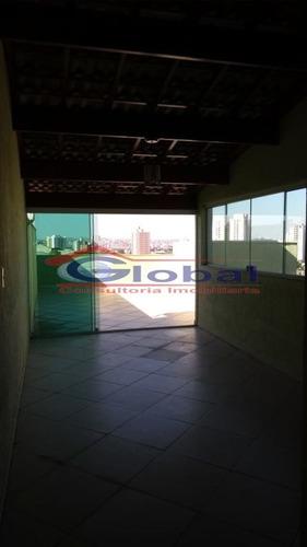 venda cobertura sem condomínio - v. alzira - santo andré - gl39046