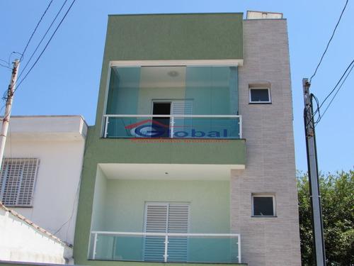 venda cobertura sem condomínio - v. eldízia - santo andré - gl38541