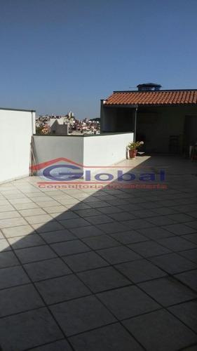 venda cobertura sem condomínio - v. helena - santo andré - gl38575
