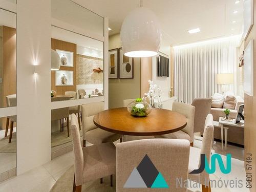 venda de apartamento em lagoa nova, natal, com 3 quartos, e perto da região dos fóruns - edifício jerônimo câmara - ap00045 - 2592199