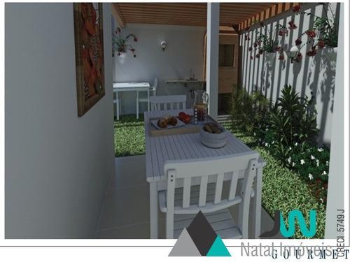 venda de casa duplex em nova parnamirim, com 2 suítes e piso em porcelanato - douro village condomínio - ca00046 - 2680470