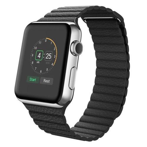 da7ccb8bc Venda De Reloj De Lazo De Cuero Para Apple Watch Serie 1 3 2 ...