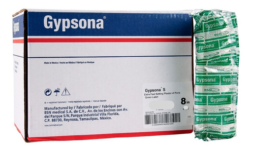 venda de yeso gypsona s 15 cm x 2.75 m 10 piezas