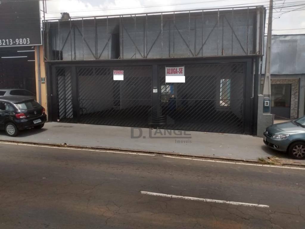 venda e locação salão comercial em avenida castelo, campinas - sl0816