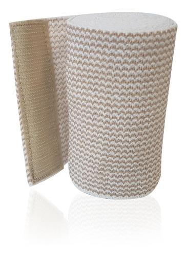 venda elástica alta compresión con gancho de velcro de 10 cm