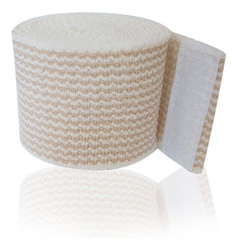 venda elástica alta compresión con gancho y felpa de 5 cm