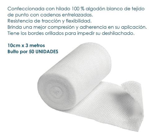 venda / gasa tipo cambric 7cm x 3mt por 50 unidades-balphin