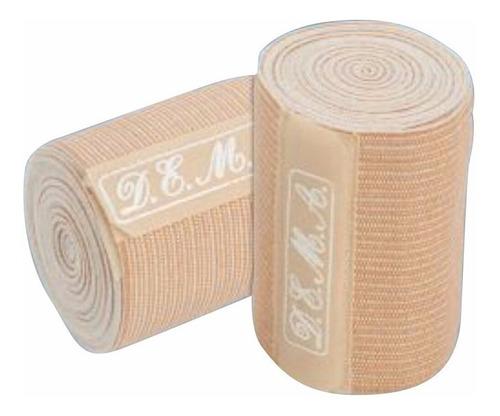 venda resistente 10cm x 5 mts. algodon elastico d.e.m.a.