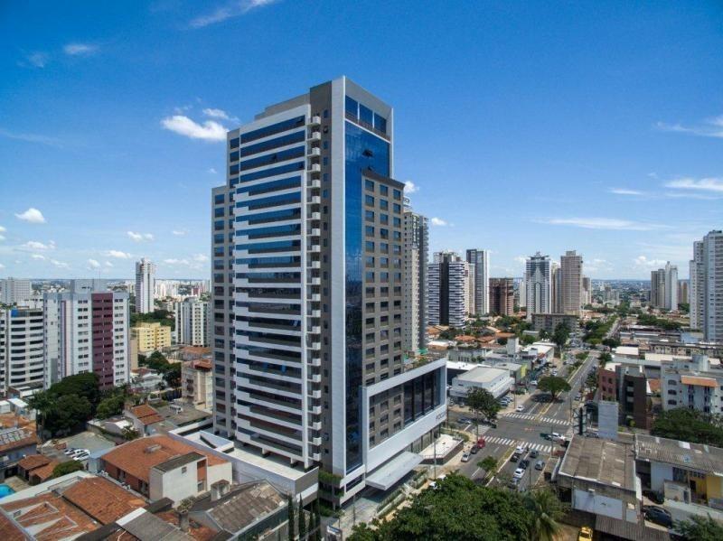 venda sala com mezanino no setor bueno edifício focus em goiânia on line 62. 999.459.921 - rb337 - 32980343