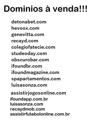 vendas de domínios (leia a descrição do anúncio)