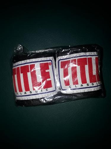 vendas title clásicas para guantes de boxeo par
