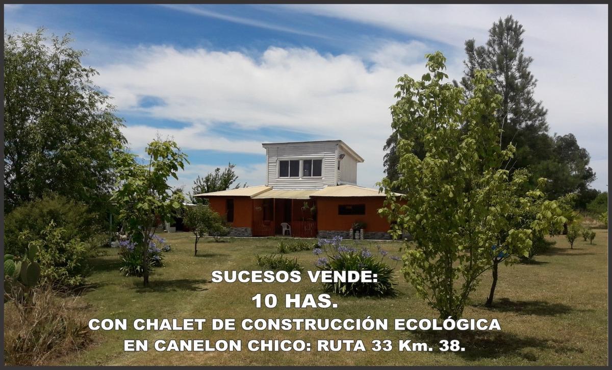 vende 10 has. con casa en canelón chico, ruta 33 km. 38.800